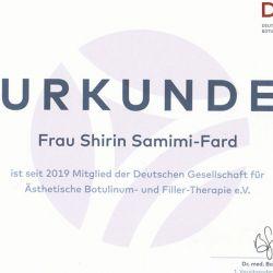 Zertifikat Shirin Samimi-Fard
